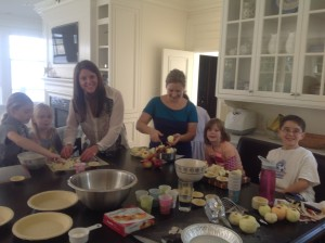 Parents help us with special activities, like apple pie baking! Yum!